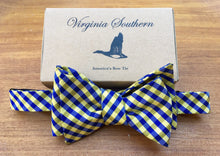 WVU Mountaineers Silk College Bow Tie