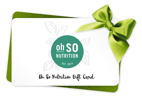 Oh So Nutrition Gift Card