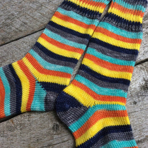 Sock Star - Stripes - Sunset Beach