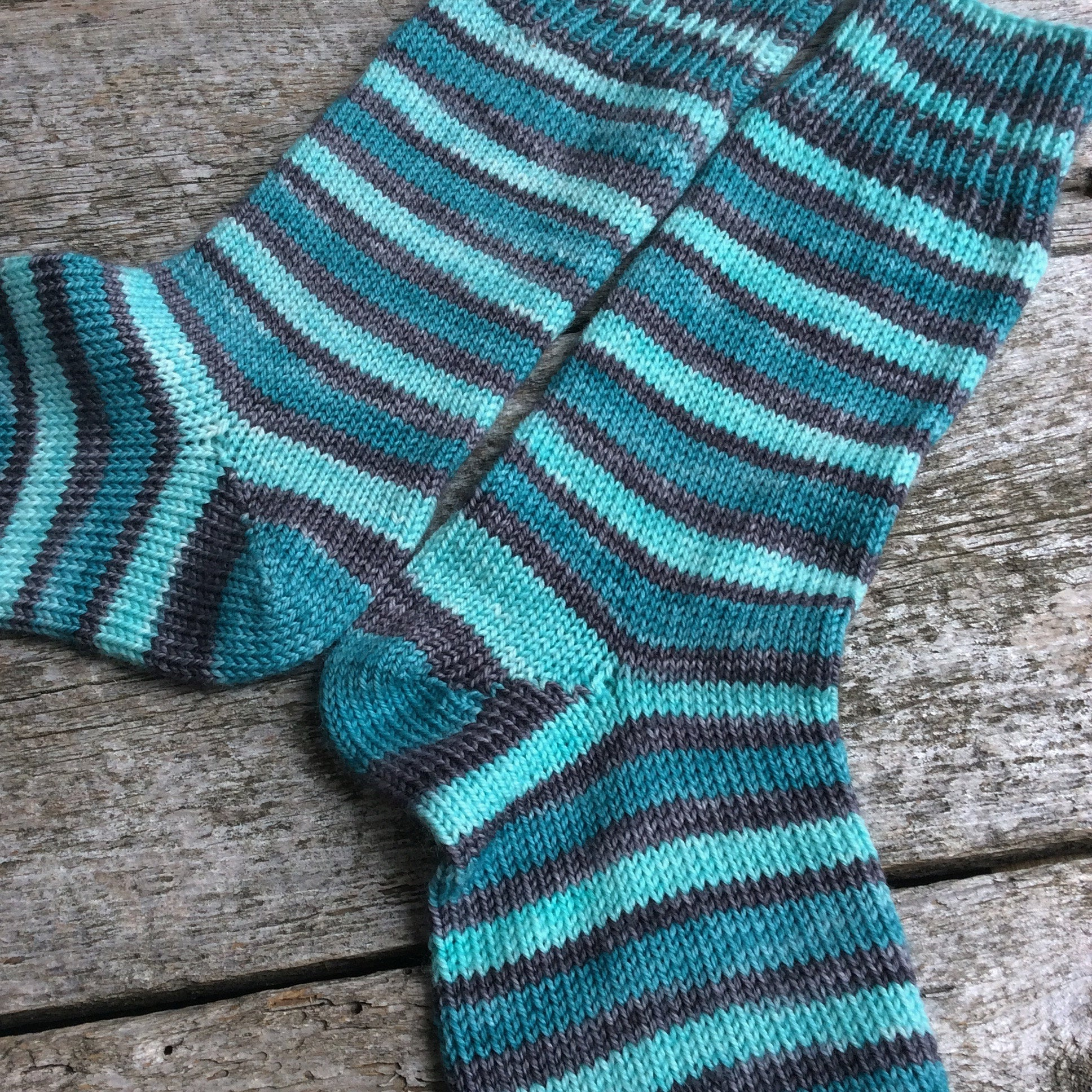 Sock Star - Stripes - Tealy