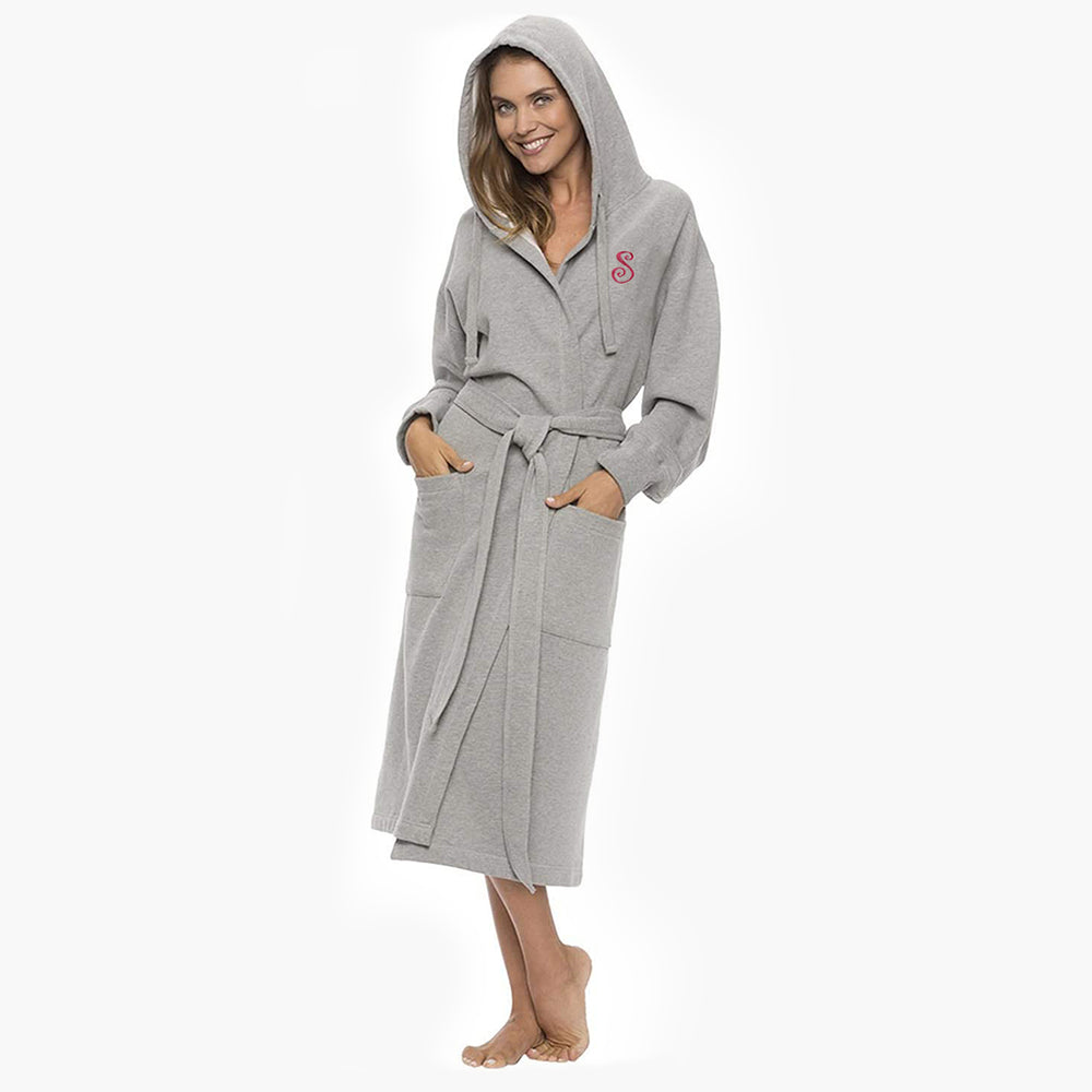 Hooded Gray Sweatshirt Robe