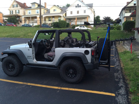 Hitchmount Rack Connects To A Versahitch On Jeep In Pa