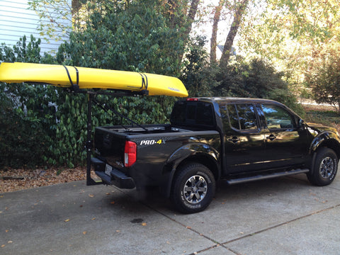 Hitchmount Rack With Kayak On A Nissan Frontier Pro 4x