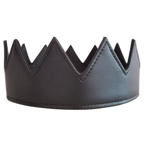 Black Vegan Leather Crown Kings Crown Queens Crown