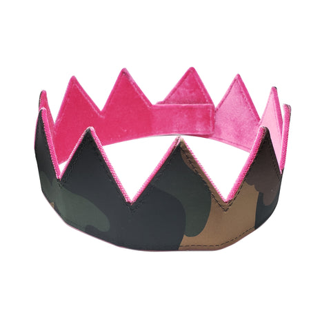 Satin and Velour Camo Crown