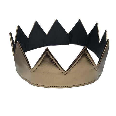 Metalic Bronze Leather Crown