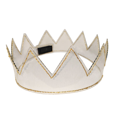 Waterproof Clear Crown with Metallic Gold