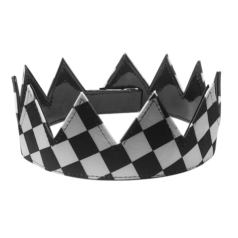 reversible checkered and black crown