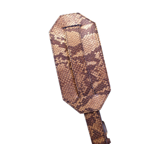 Snake Skin Leather Harness