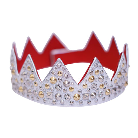 Silver Red Bottom King's Crown