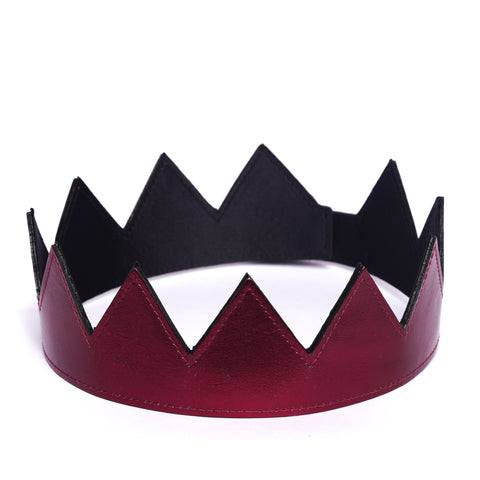 Metallic Leather Crowns ( Various Colors )