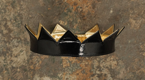 Black and Gold Mylar Rihanna crown