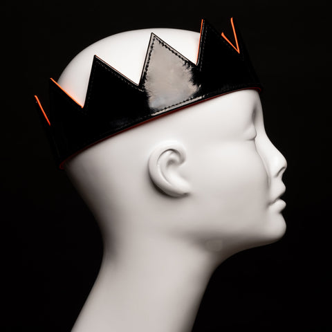 New Spring Black Patent Leather Crowns