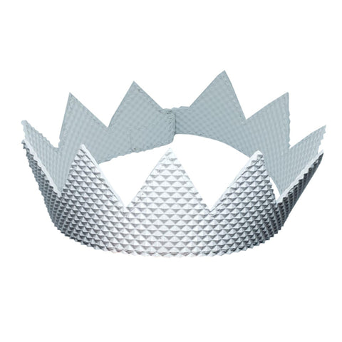 White Pyramid Textured Rubber Crown