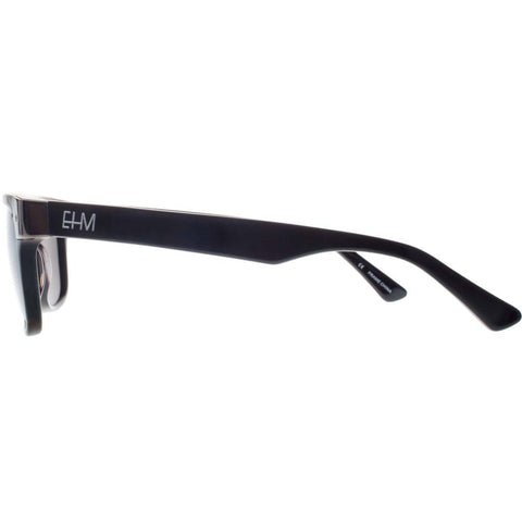Shiny Black with Gun Metal Wayfarer Sunglasses (Men's)