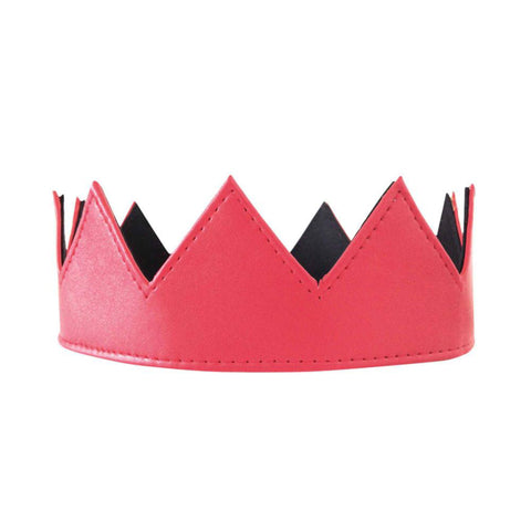 Red Vegan Leather Crown Kings Crown Queens Crown