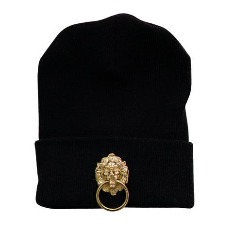 Unisex Skullcap with Metal Lion ( Available in Various Colors )