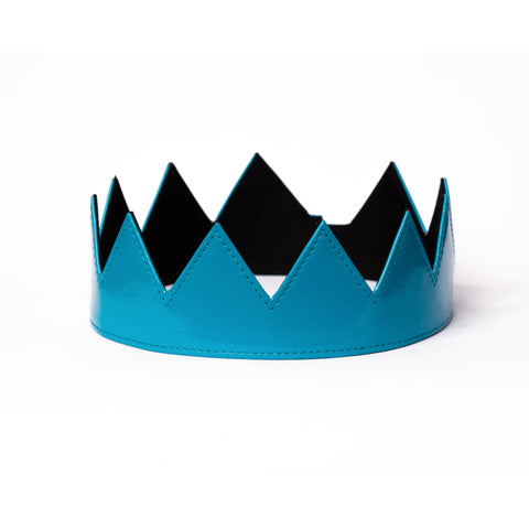 Sky Blue Patent Leather Crown