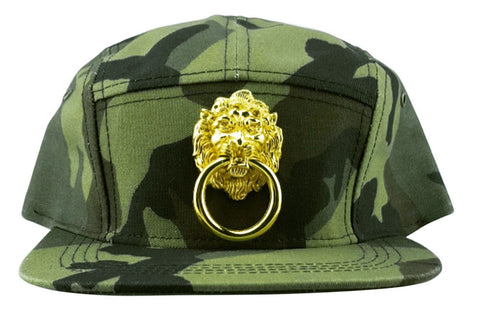 Camouflage Baseball Cap with Large Lion