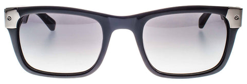 Shiny Black with Gun Metal Wayfarer Sunglasses