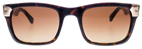 Shiny Tortoise with Rose Gold Metal Wayfarer Sunglasses