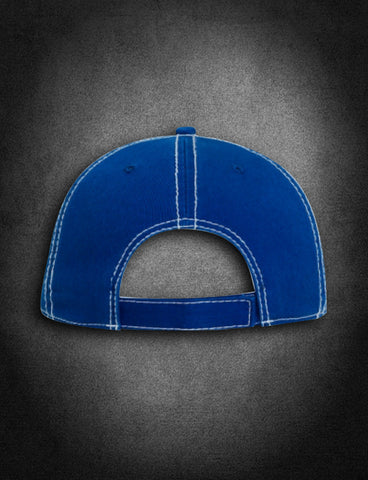 AFA Distressed Low Profile Hat Blue/White - AmericanFireApparel  - 4