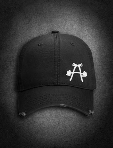 AFA Distressed Low Profile Hat Black - AmericanFireApparel  - 2