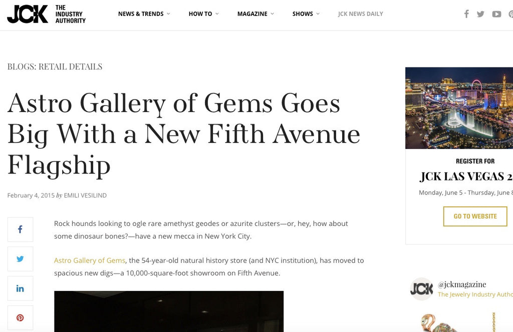Astro Gallery of Gems Goes Big With Fifth Avenue Flagship