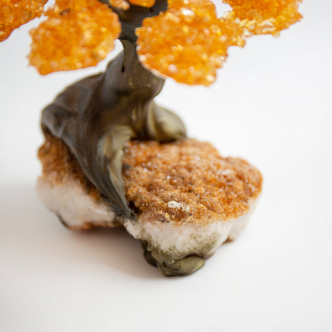 Medium - Genuine Citrine Clustered Gemstone Tree on Citrine Matrix (The Calming Tree)