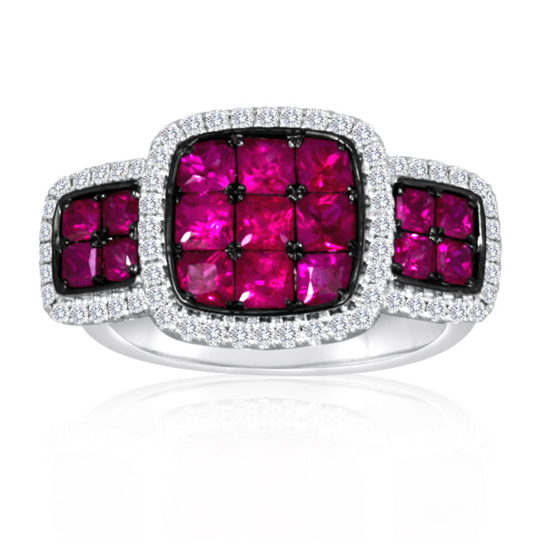 14k White Gold Ruby Ring (1029-2)
