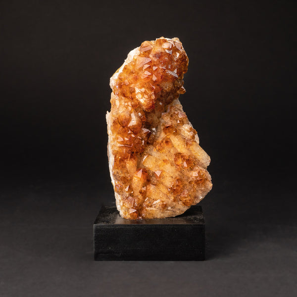 "Citrine Quartz Crystal Cluster on Wooden Stand (6"", 2.2 lbs)"