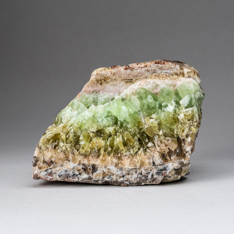 Genuine Polished Green Calcite Crystal Cluster (6 lbs)