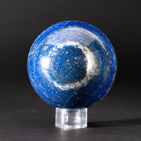 "Polished Lapis Lazuli Sphere from Afghanistan (4.75"", 5.5 lbs)"