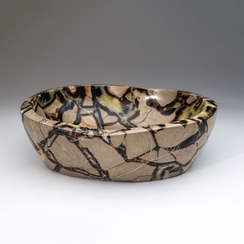 Polished Septarian Bowl from Madagascar (8.5 lbs)