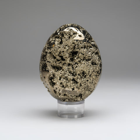 Polished Pyrite Egg from Peru (4 lbs)