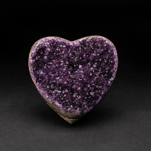 Amethyst Cluster Heart from Brazil (1.1 lbs)