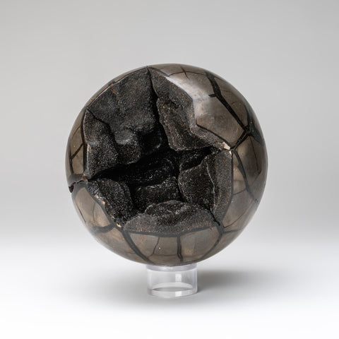 Septarian Geode Druzy Sphere from Madagascar (9 pounds)