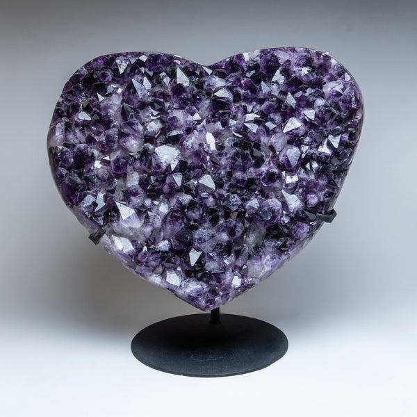 Amethyst Cluster Heart on Stand from Uruguay (36.5 lbs)