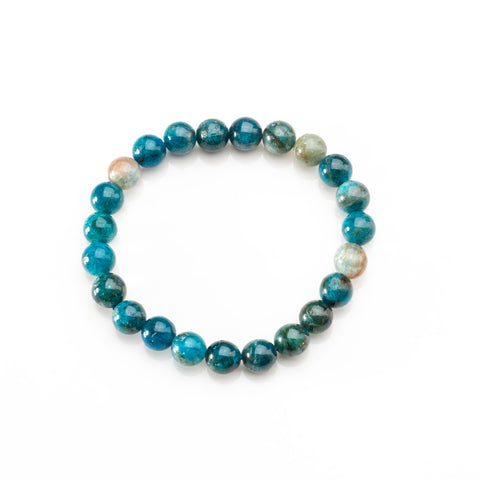 Apatite 8mm Beaded 7 Inch Stretch Bracelet