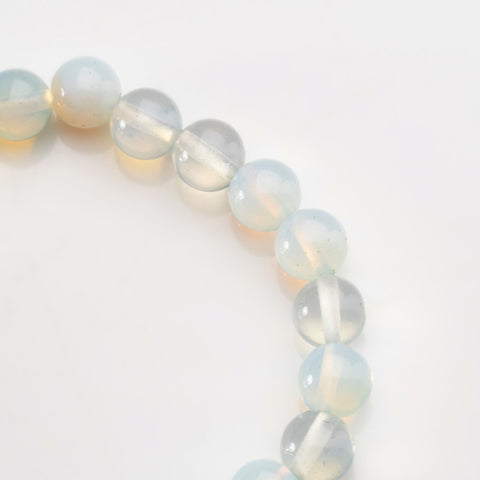 Natural Opalite Gemstone 8mm Beaded 7 Inch Stretch Bracelet