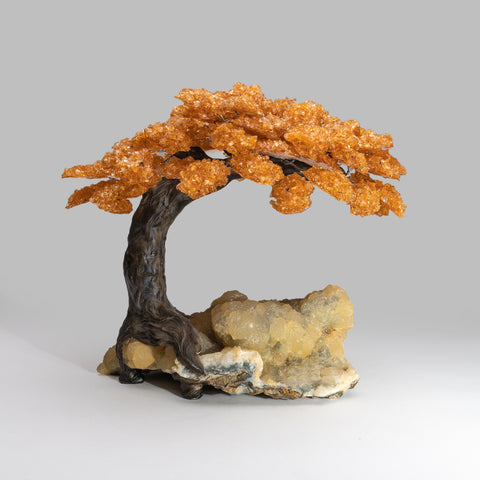Custom - Citrine Clustered Gemstone Tree on Chalcedony Matrix