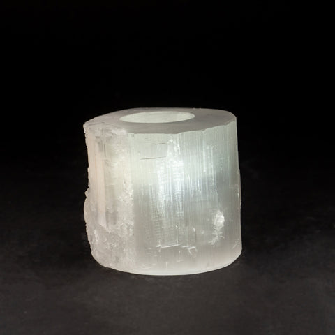 Genuine Cats Eye Selenite Candle Holder (2 lbs)
