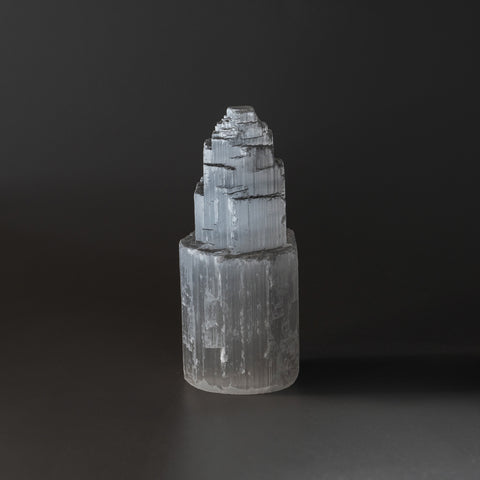 Small Cats-Eye Selenite Castle Tower from Morocco (187 grams)