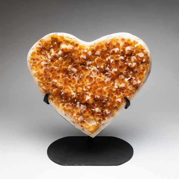 Citrine Cluster Heart on Stand from Uruguay (16 lbs)