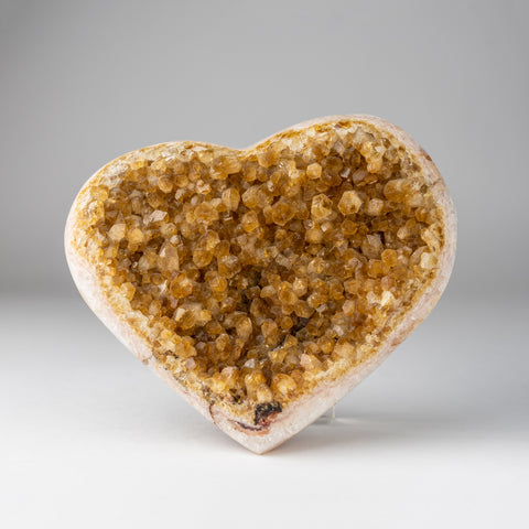 Citrine Cluster Heart from Uruguay (2 lbs)
