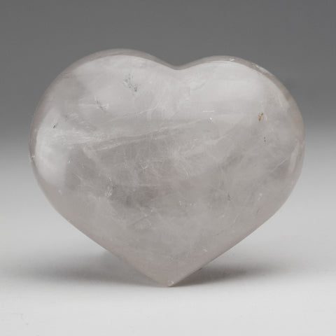 Clear Quartz Polished Heart From Brazil (436.8 grams)