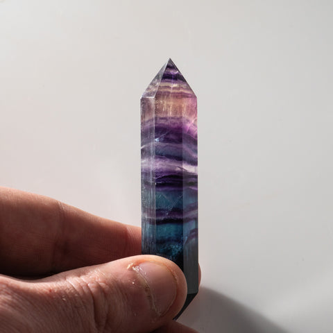 Double Terminated Rainbow Banded Fluorite From Mexico (33.2 grams)