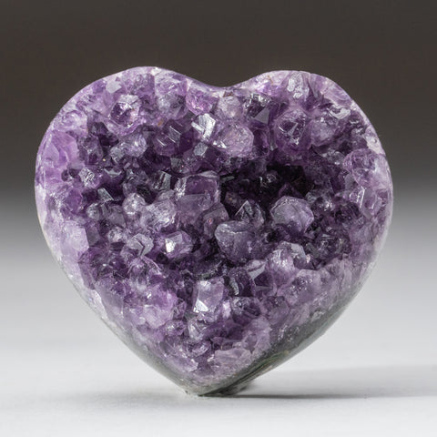 Amethyst Cluster Heart from Brazil (133.2 grams)