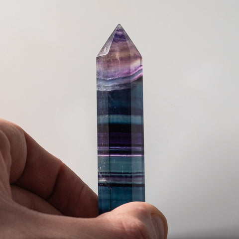 Double Terminated Rainbow Banded Fluorite From Mexico (40 grams)