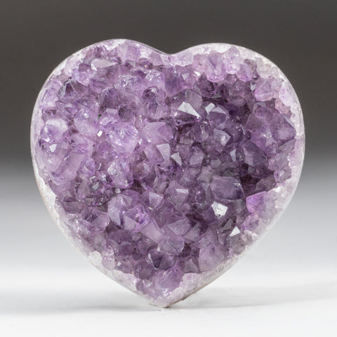 Amethyst Cluster Heart from Brazil (208.2 grams)